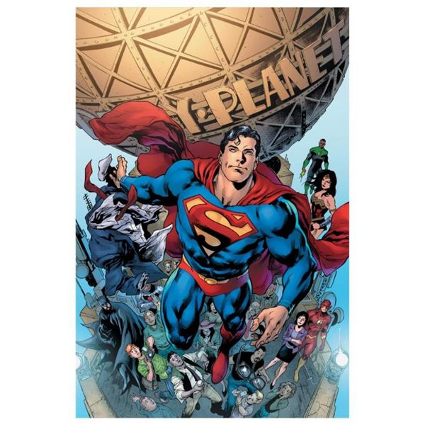 """DC Comics, """"Superman #19"""" Numbered Limited Edition Giclee on Canvas by Ivan Reis"""