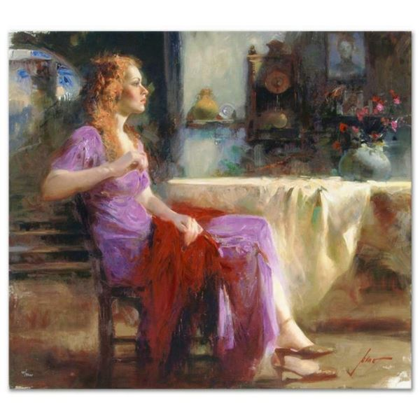 """Pino (1939-2010), """"Longing For"""" Artist Embellished Limited Edition on Canvas (36"""