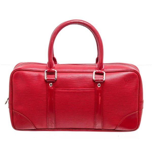 Louis Vuitton Red Epi Leather Vivienne Satchel