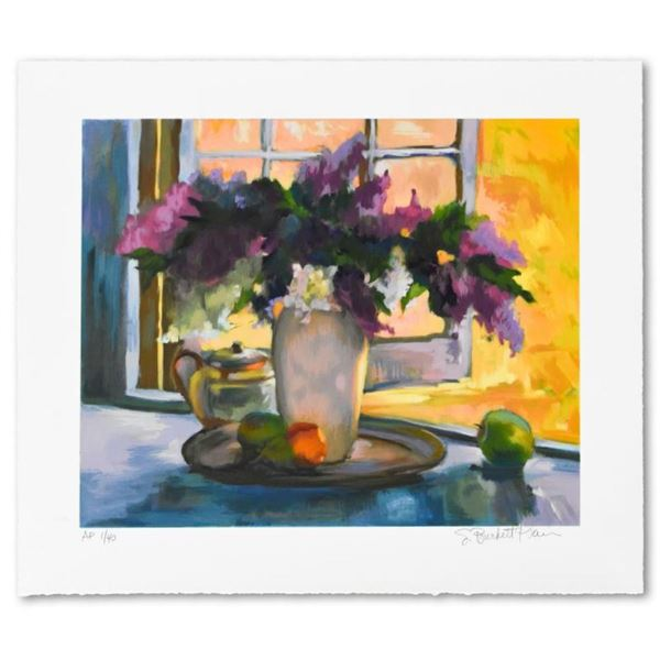 """S. Burkett Kaiser, """"Breezy Lilacs"""" Limited Edition, Numbered and Hand Signed wit"""