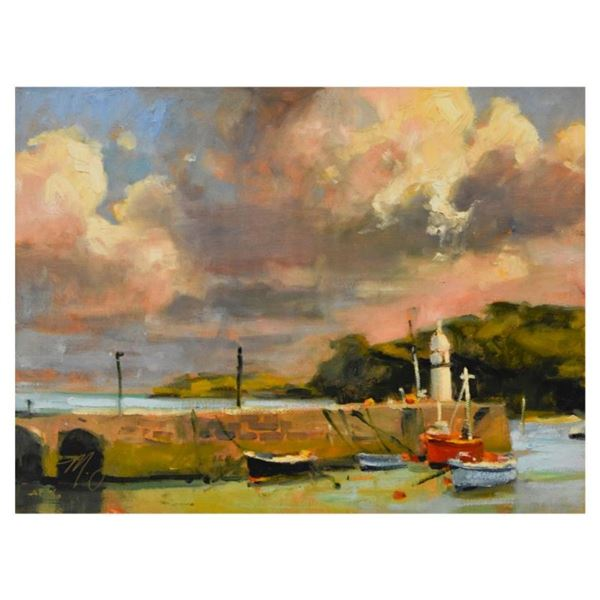 """Marilyn Simandle, """"St. Ives"""" Limited Edition on Canvas, Numbered and Hand Signed"""