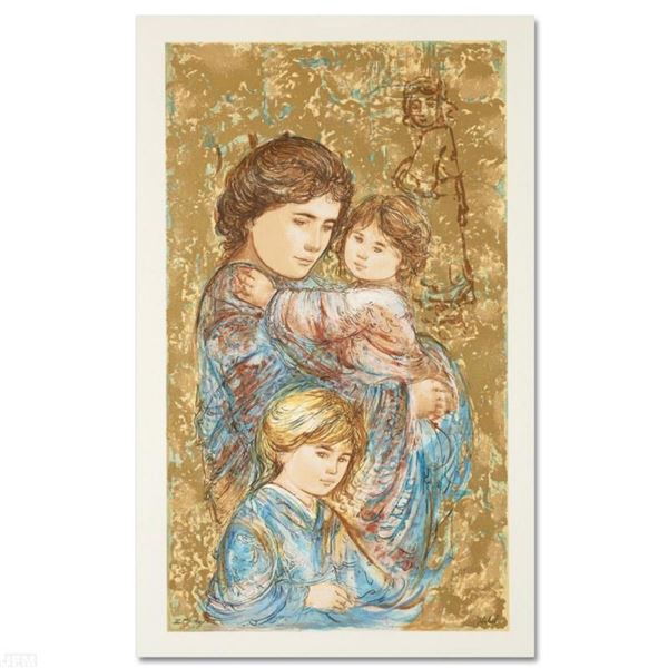 """""""Golden Times"""" Limited Edition Serigraph by Edna Hibel (1917-2014), Numbered and"""