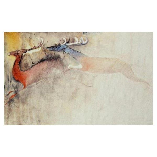 """Edwin Salomon, """"Mating Season"""" Hand Signed Limited Edition Serigraph with Letter"""