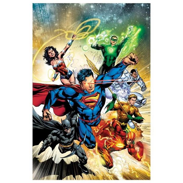 """DC Comics, """"Justice League #2"""" Numbered Limited Edition Giclee on Canvas by Ivan"""