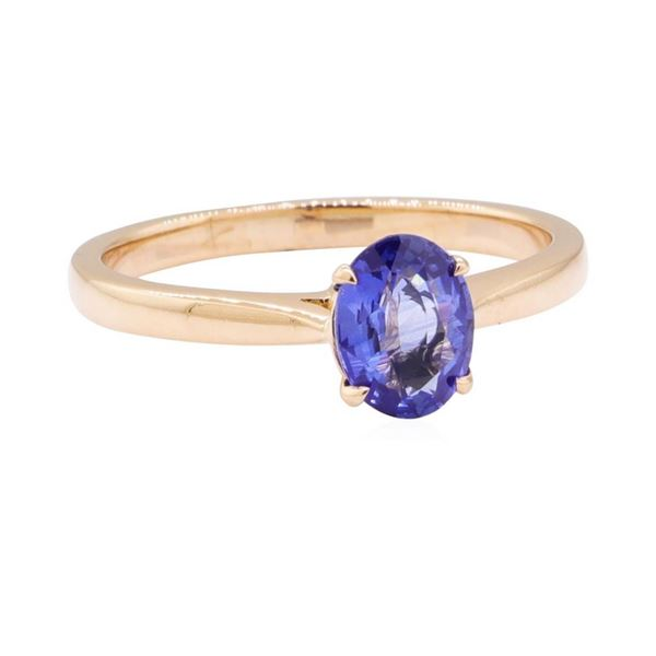 0.98 ctw Blue Sapphire Ring - 18KT Rose Gold