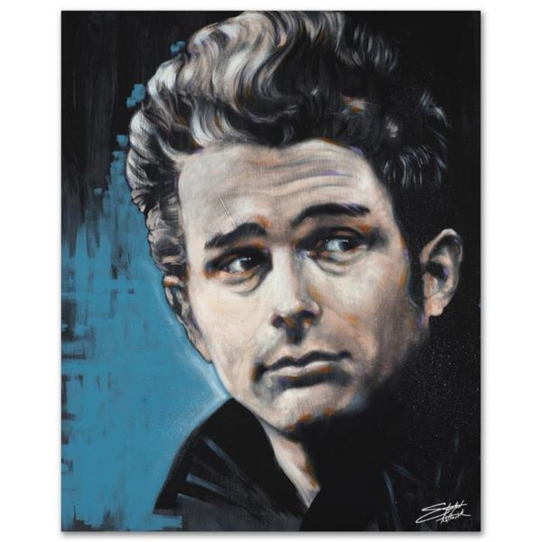 """""""James"""" Limited Edition Giclee on Canvas by Stephen Fishwick, Numbered and Signe"""