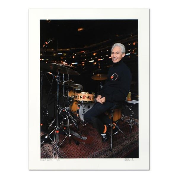 """Rob Shanahan, """"Charlie Watts"""" Hand Signed Limited Edition Giclee with Certificat"""