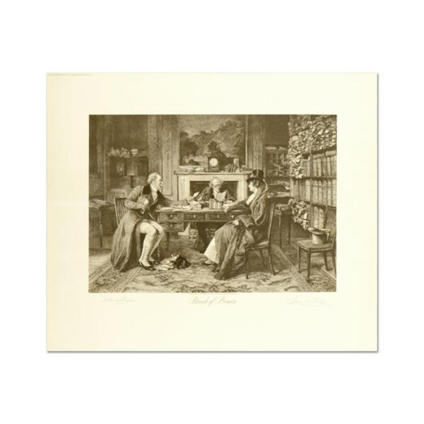 """W. Dendy Sadler (1854-1923), """"Breach of Promise"""" Plate Signed Lithograph with Le"""