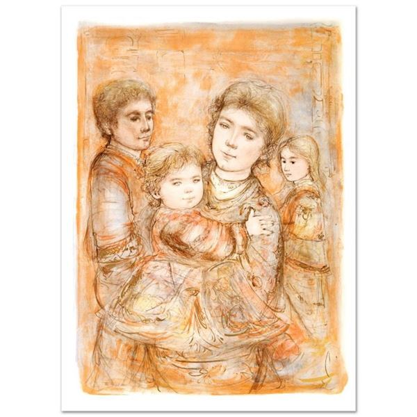 """""""Portrait of a Family"""" Limited Edition Lithograph (28"""" x 40.5"""") by Edna Hibel (1"""