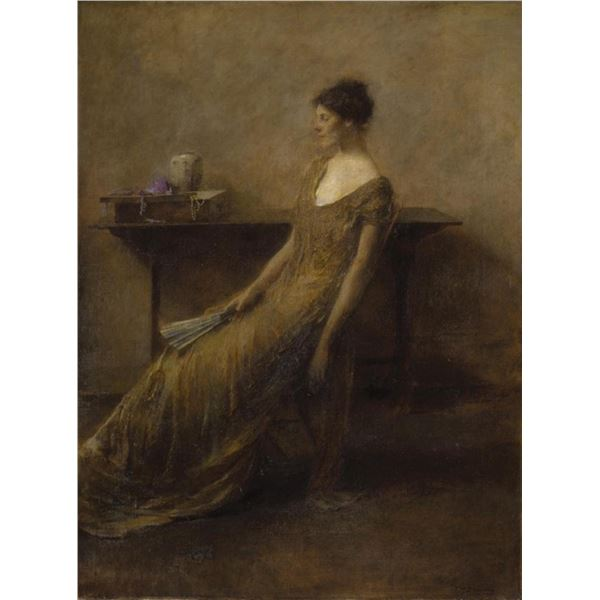 Thomas Dewing - Lady in Gold