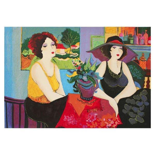 "Patricia Govezensky, ""Esco Bar"" Hand Signed Limited Edition Serigraph on Canvas"