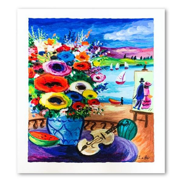 """Shlomo Alter, """"Still Life"""" Hand Signed Limited Edition Serigraph on Paper with L"""