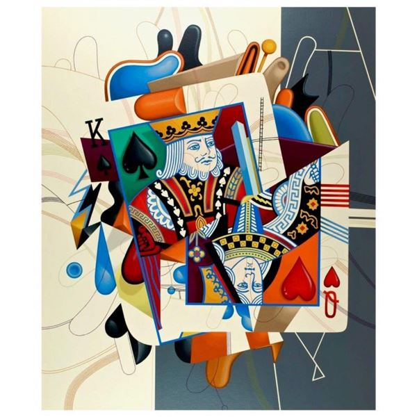 """Yankel Ginzburg, """"Royalty (King/Queen)"""" Hand Signed Limited Edition Serigraph wi"""