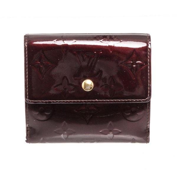 Louis Vuitton Vernis Amarante Patent Leather Elise Wallet