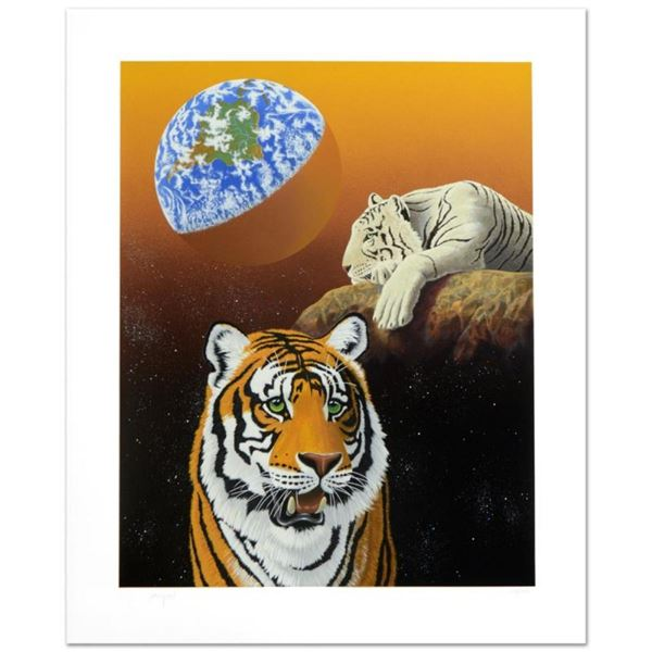 """""""Our Home Too III (Tigers)"""" Limited Edition Serigraph by William Schimmel, Numbe"""