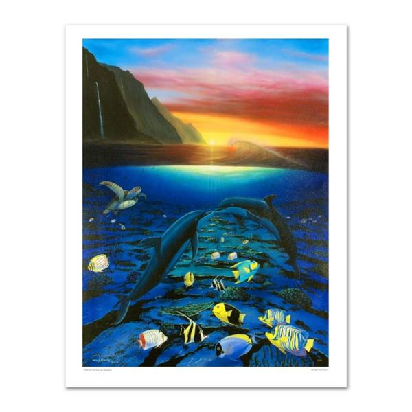 """""""Kiss for the Sea"""" Limited Edition Giclee on Canvas (30"""" x 40"""") by Renowned Arti"""