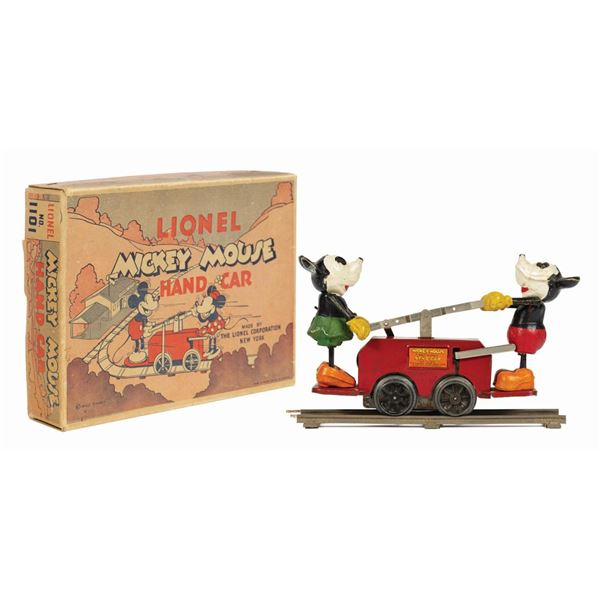 Lionel Mickey Mouse Hand Car with Box.