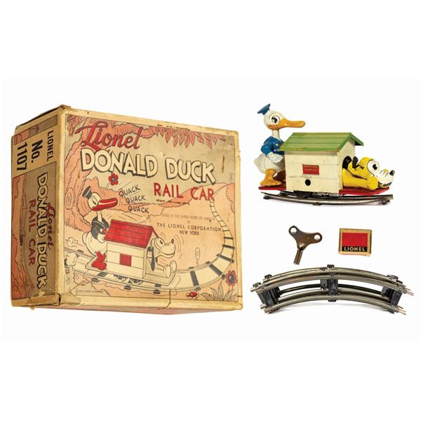 Lionel Donald Duck and Pluto Rail Car with Box.