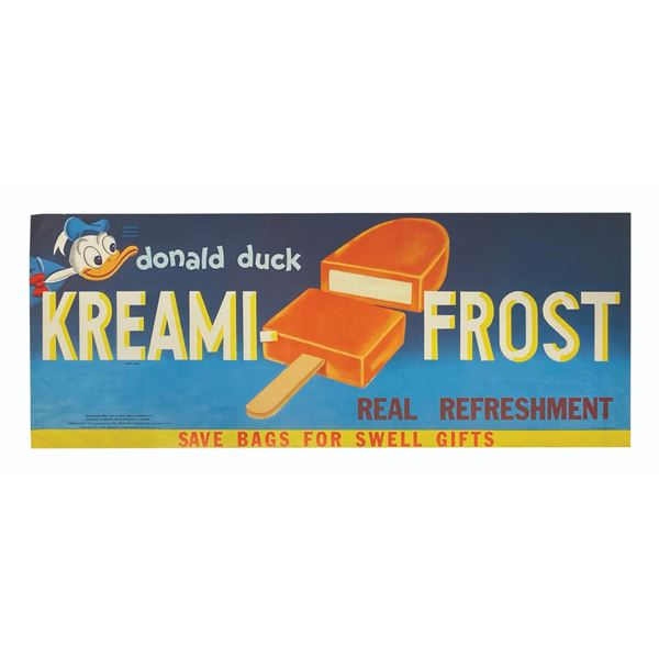 Donald Duck Kreami-Frost Advertising Poster.