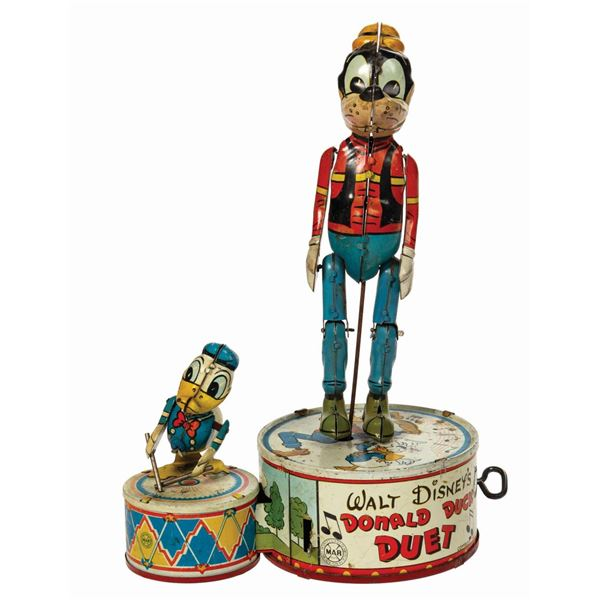 Marx Donald Duck Duet Tin Toy.