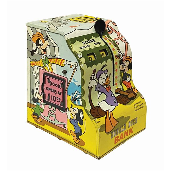 Marx Donald Duck Cash Register Bank Tin Toy.