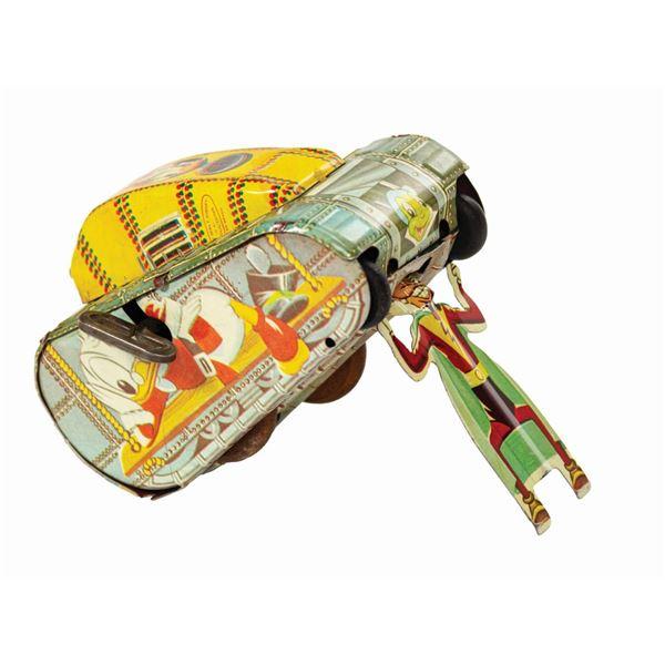 Marx Super Goof Turnover Tank Tin Toy.