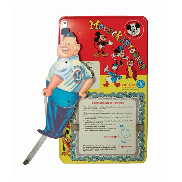 Mousekartooner Roy Williams Tin Litho Drawing Toy.