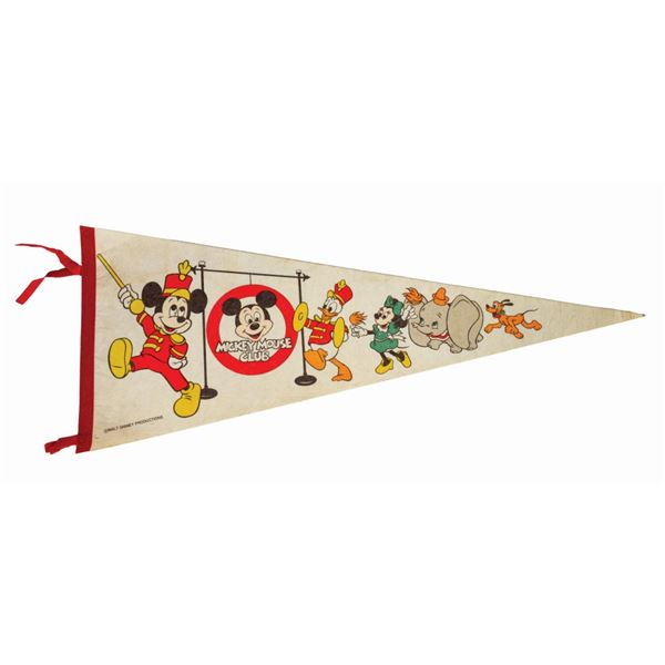 Mickey Mouse Club Pennant.