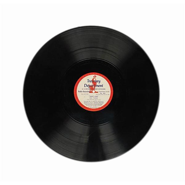 Fess Parker Treasury Department Radio Record.