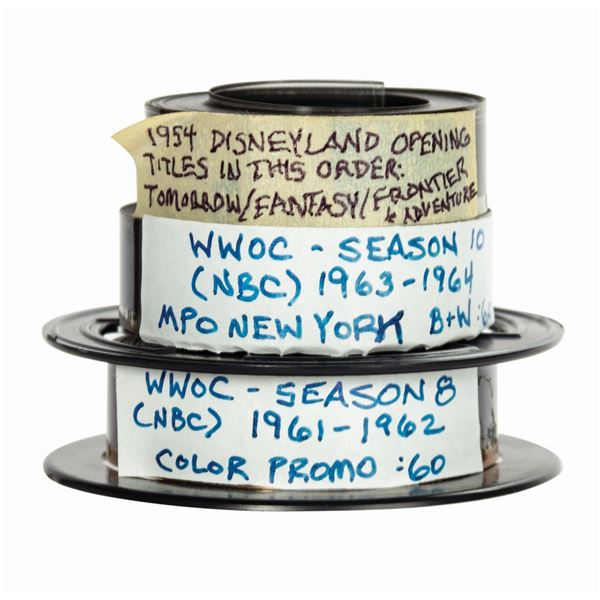 Set of (3) Disneyland & Wonderful World of Color Films.