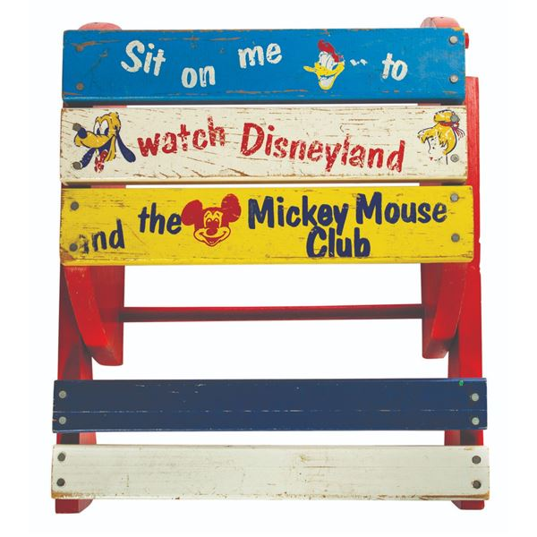 Disneyland Combination TV Chair and Stepstool.