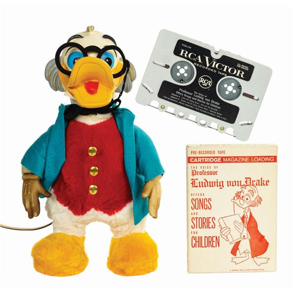 Professor Ludwig Von Drake Talking Doll by Gund.