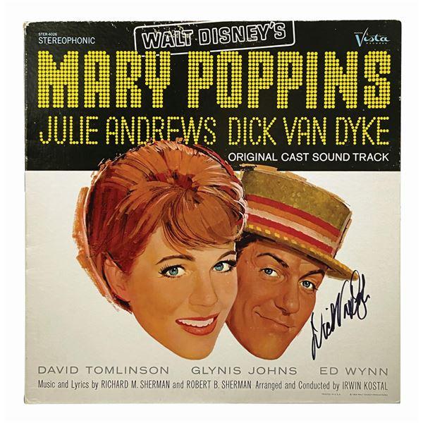 Signed Dick Van Dyke Mary Poppins Record.