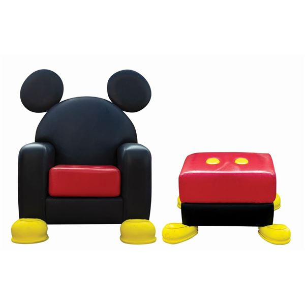 Mickey Mouse Chair and Ottoman by Paddy Gordon.