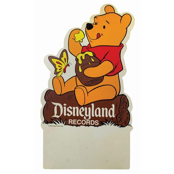 Disneyland Records Winnie the Pooh Sign.