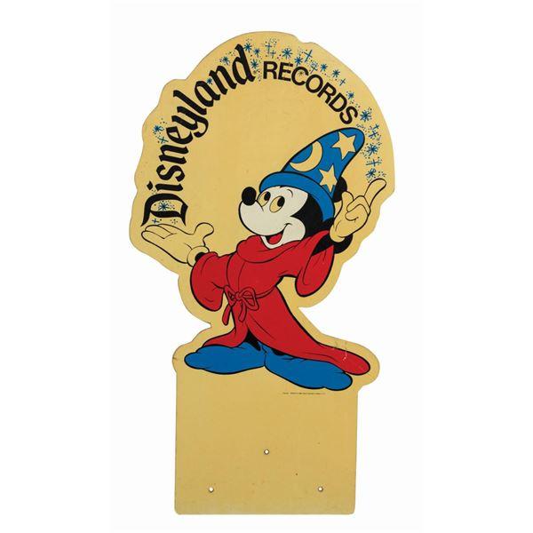 Disneyland Records Sorcerer Mickey Sign.
