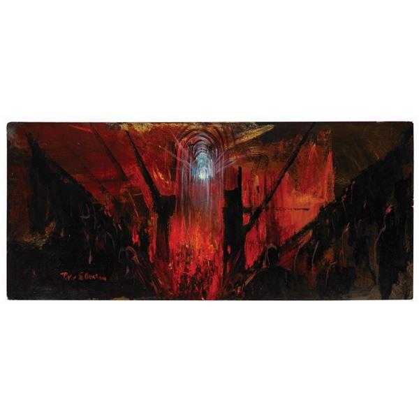 Peter Ellenshaw The Black Hole Concept Painting.