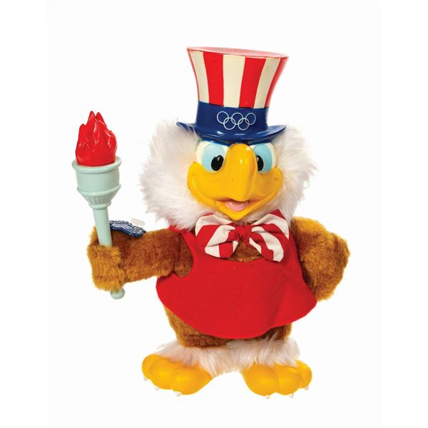 Sam the Olympic Eagle Toy Signed by Bob Moore.