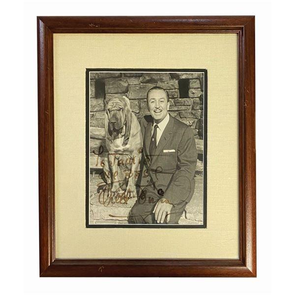 Walt Disney Signed Portrait Photograph.