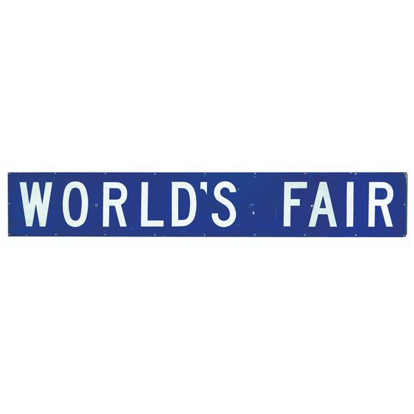 New York World's Fair Subway Station Sign.