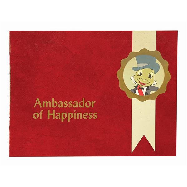 """It's a Small World """"Ambassador of Happiness"""" Booklet."""