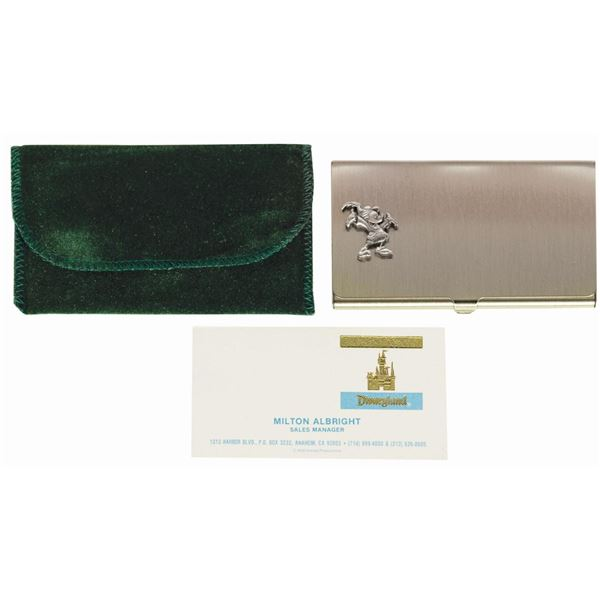 Milt Albright's Mickey Business Card Case.