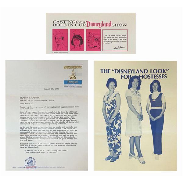 Disneyland Hostess Hiring Process Informational Letter.