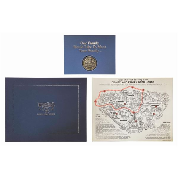 Disneyland Family Open House Coin, Map, & Booklet.
