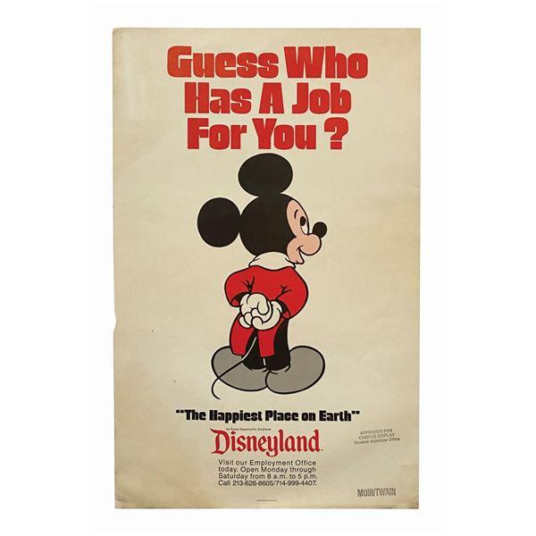 Disneyland Recruitment Poster.