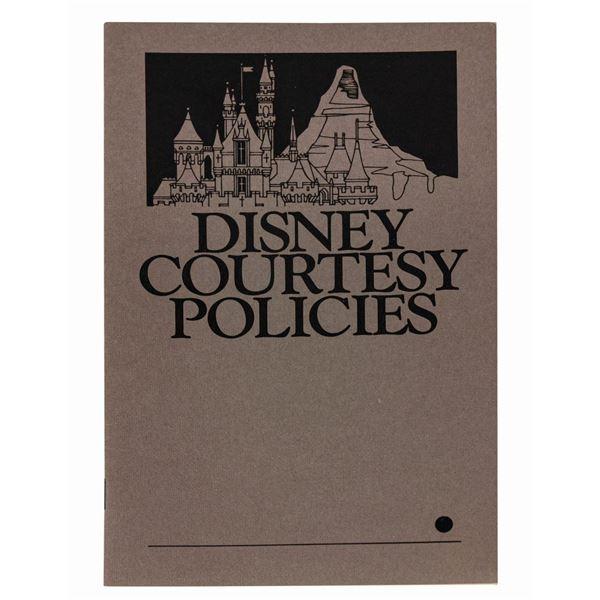 Disney Courtesy Policies Booklet.