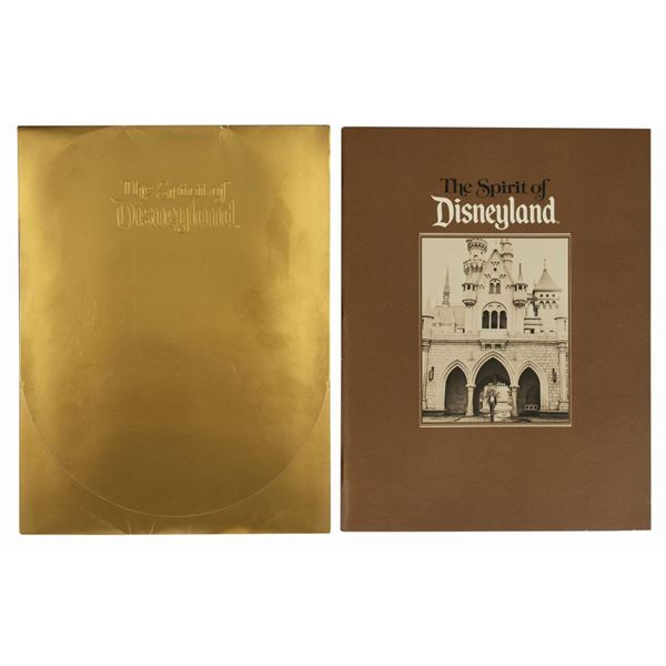 The Spirit of Disneyland Book and Invitation.