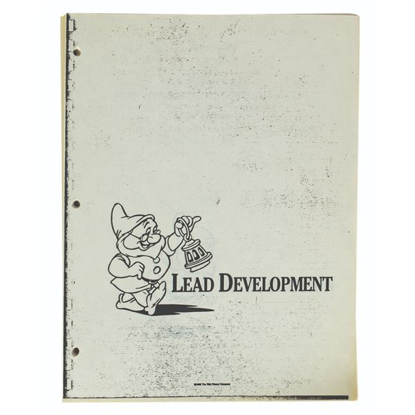 Disneyland Lead Development Training Manual.