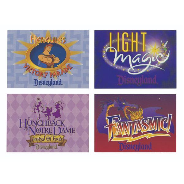 Set of (4) Disneyland Cast Member Information Cards.