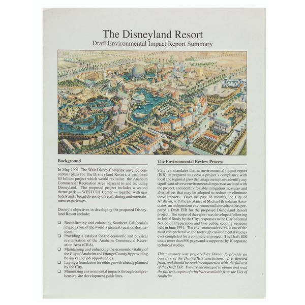 Disneyland Resort Environmental Impact Report.